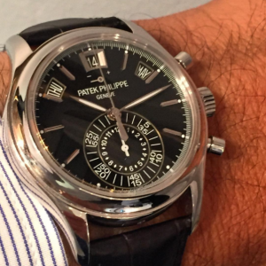 5960P with Black dial on wrist