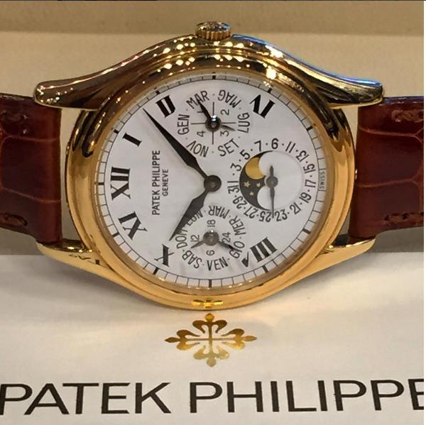 3940J Porcelain Italian dial brown strap
