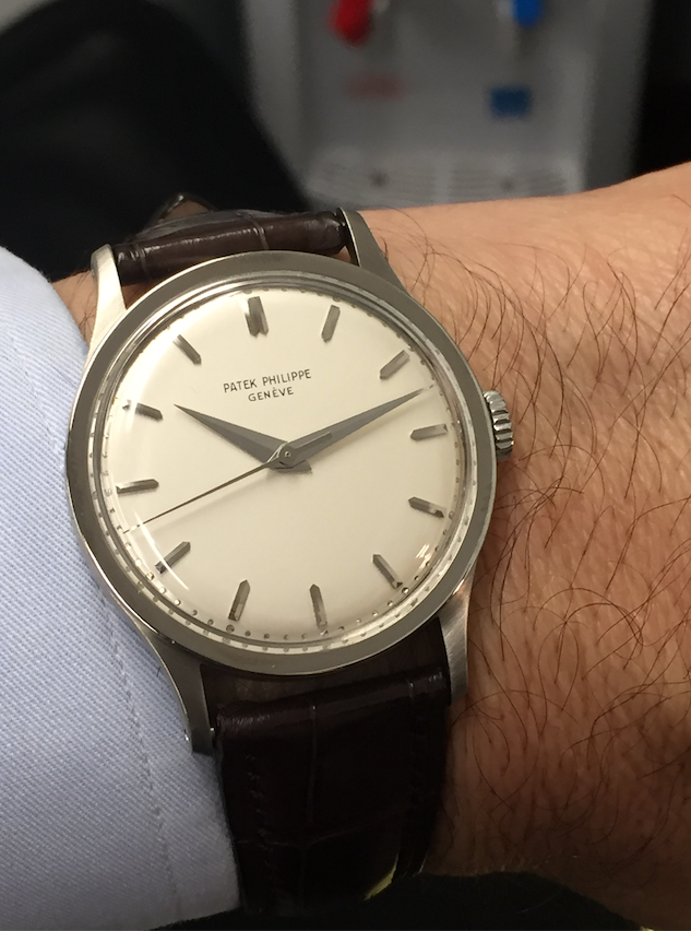Patek Philippe 570 White Gold Calatrava Madison Time