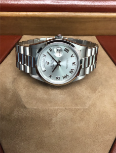 Rolex Day-Date Platinum w:Ice blue dial pic 1
