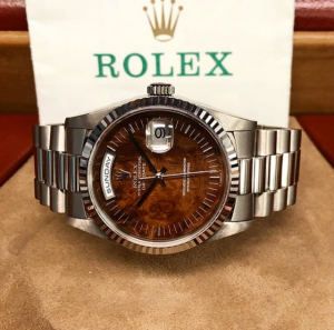 Rolex Day Date w:wooden dial Main pic